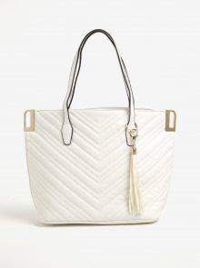 Krémová prošívaná kabelka s detaily ve zlaté barvě Miss Selfridge