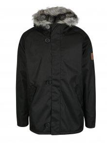 Černá pánská bunda s umělým kožíškem Makia Original Raglan