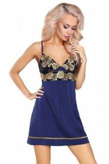 LivCo Corsetti Skye dámská košilka L/XL tmavě modrá-zlatá