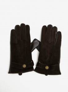 Hnědé semišové rukavice Selected Homme Eric
