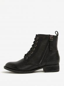 Černé dámské kožené kotníkové boty ALDO Keeler