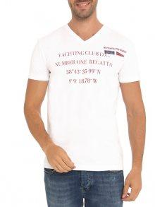 Denim Culture Pánské tričko B-404_WEISS