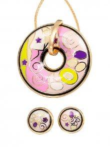 Rose Salome Jewels Set náhrdelníku a náušnic BNGE001L\n\n