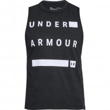 Under Armour Graphic Muscle Tank Wordmark černá XS