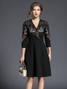 Ferraga Dámské šaty QE361 Black