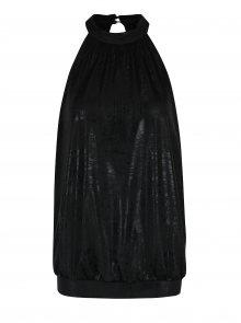 Černý volný lesklý top ONLY Kailee