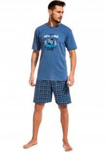 Pánské pyžamo Cornette 326/50 XXL Modrá