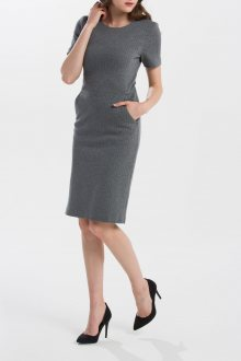 ŠATY GANT O1.HERRINGBONE JERSEY DRESS
