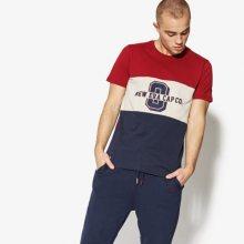 New Era Tričko Ss World Hood Tri-Colour Tee New Era Cardinal Muži Oblečení Trička 11517686 Muži Oblečení Trička Bordová US S