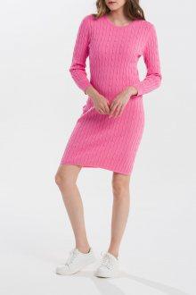 ŠATY GANT STRETCH COTTON CABLE DRESS