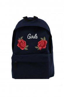 Batoh Simple Girls Roses s nášivkou