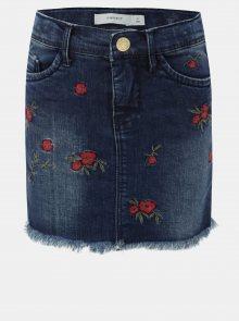 Holčičí džínová sukně s výšivkou Name it Fasola