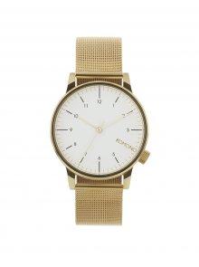 Unisex hodinky ve zlaté barvě s kovovým páskem Komono Winston Royale