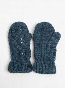 Petrolejové dámské pletené rukavice s kamínky Roxy Shooting Star