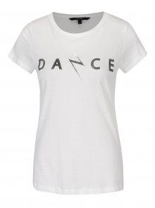 Krémové tričko s krátkým rukávem a potiskem VERO MODA Dance Studio