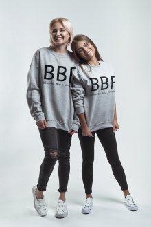 Mikina Brunette BFF Grey