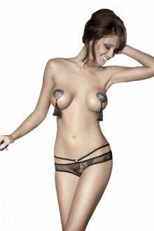 Anais Kalhotky PERMISSION open panty XL černá