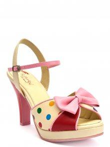 Lola Ramona Dámské sandály403016-91_Creme/pink/red