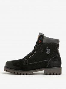 Černé kotníkové semišové boty U.S. Polo Assn.