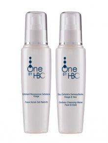 One by HBC Obličejový peeling+Čistící pleťová voda In Depth Cleansing Duo, Cellular Renewal, Purity, Radiance & Intense Tonicity, 150 ml + 150 ml\n\n