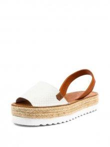 Les Chausseurs Dámské sandály 6816 -Abarca yute Blanca