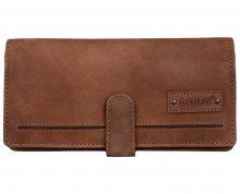 Lagen Dámská hnědá kožená peněženka Brown ADPW-3