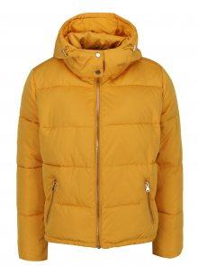 Žlutá prošívaná zimní bunda Miss Selfridge