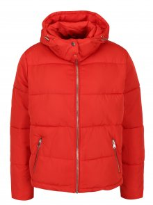 Červená prošívaná zimní bunda Miss Selfridge