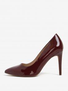Vínové boty na podpatku s detaily Dorothy Perkins