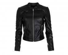 Vero Moda Dámská bunda Ever Short Faux Leather Jacket Black XL