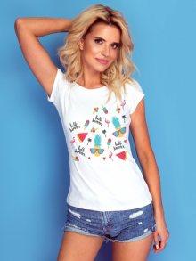Knits Dámské tričko K122 WHITE\n\n