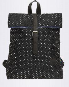 Enter Fold Top Black/White PolkaDot 16l