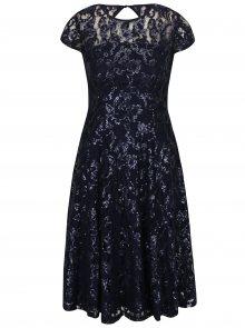 Tmavě modré krajkové šaty s flitry Dorothy Perkins