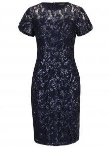Tmavě modré krajkové pouzdrové šaty s flitry Dorothy Perkins