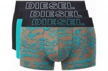 Boxerky 3 ks Diesel | Černá Modrá Zelená | Pánské | L