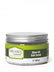 Organix Cosmetix Tělový peeling s olivovým olejem s konopným olejem_420gr\n\n