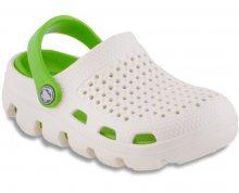Coqui Dětské pantofle Bugy 6101 Pearl/Lime 100182 26-27
