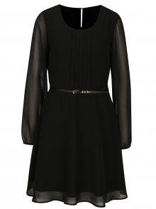 Černé šaty s páskem VERO MODA Adele