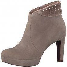 Tamaris Elegantní dámské kotníkové boty 1-1-25947-39-362 Taupe Suede 36