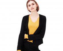 s.Oliver Dámská černá bunda ve stylu blejzru 36