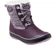KEEN Junior boty Elsa Boot WP Plum/Lilac Pastel 35