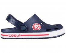 Coqui Dětské pantofle Froggy 8801 Navy/White 101969 26-27