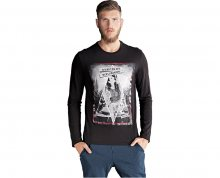 Edward Jeans Pánské triko s dlouhým rukávem Grand T-Shirt 16.1.1.01.056 M