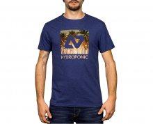 Hydroponic Pánské tričko Hy Palms Ss Heather Navy M