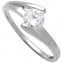 Brilio Silver Stříbrný zásnubní prsten 7111048 52 mm