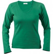 Dámské tričko s dlouhým rukávem Alex Fox - Zelená | S