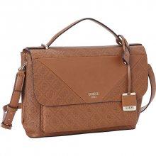 Guess Elegantní dámská kabelka GUESS Cammie Top Handle Flap Crossbody brown
