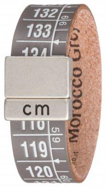 Marocco Grey Náramek Il Centimetro | Šedá | Pánské | M 20 cm