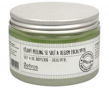 Sefiros Tělový peeling se solí a olejem Eucalyptus (Salt & Oil Bodyscrub) 300 ml - SLEVA - poškozený obal