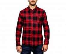 Hydroponic Pánská košile s dlouhým rukávem Kingdom Red/Black M